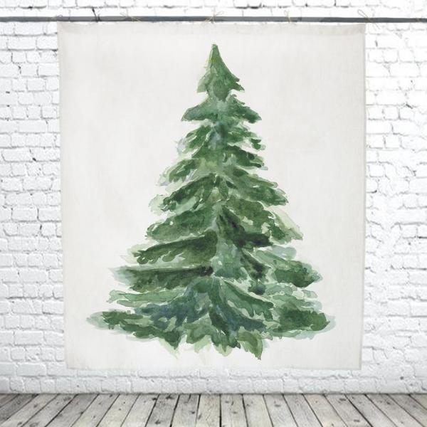 Christmas Tree / Hand painted