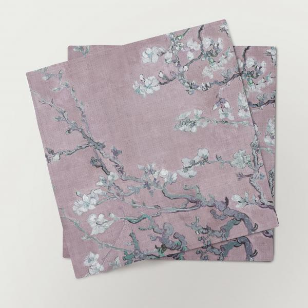 Napkins / Almond Blossoms (pink)