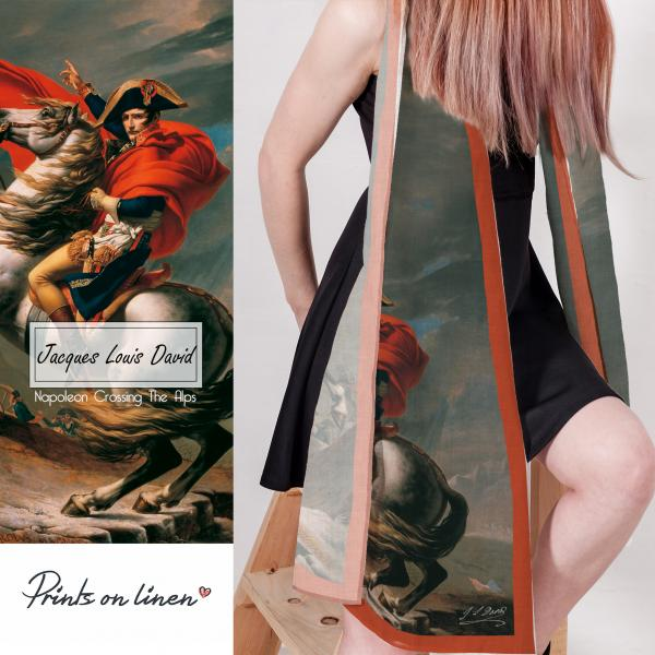 Lina scarf / Napoleon crossing the Alps