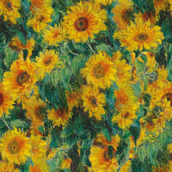 Claude Monet sunflowers pattern