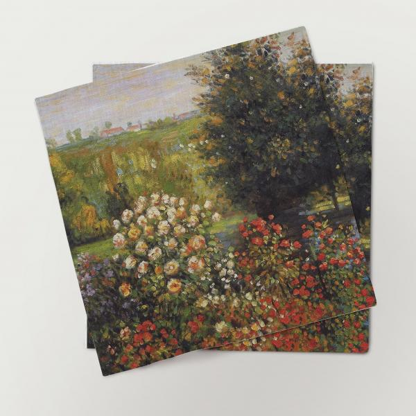 Napkins set / The Roses in the Garden at Montgeron