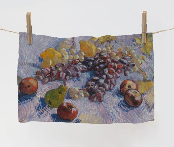 Towel / Still Life With Apples Pears Lemons And Grapes