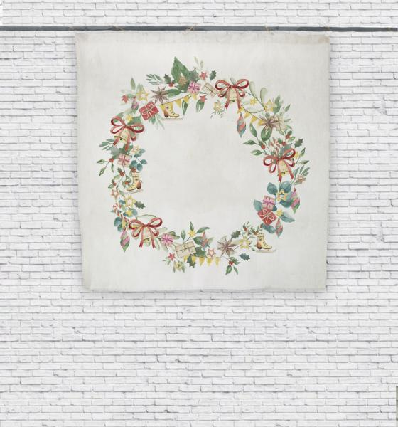 Wall tapestry / Holiday Wreath