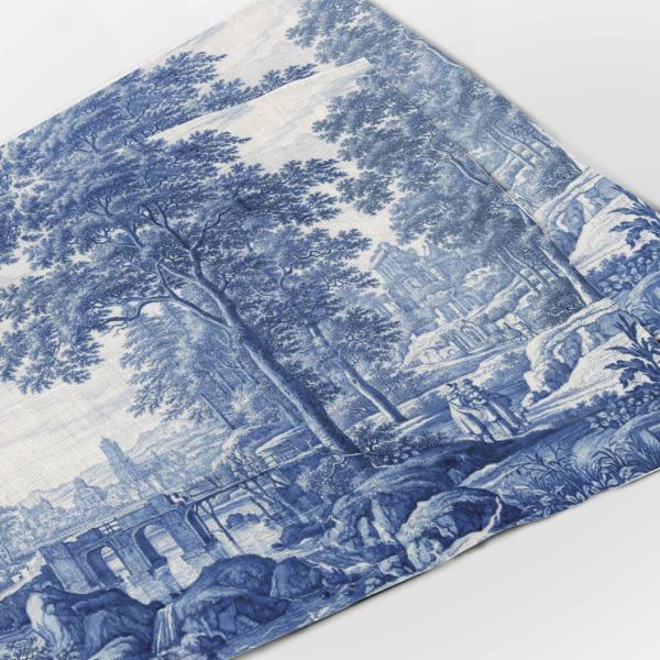Placemats set / Plaque with an Italianate Landscape