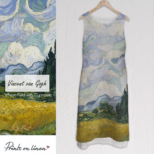 Long dress / Wheat Field with Cypresses